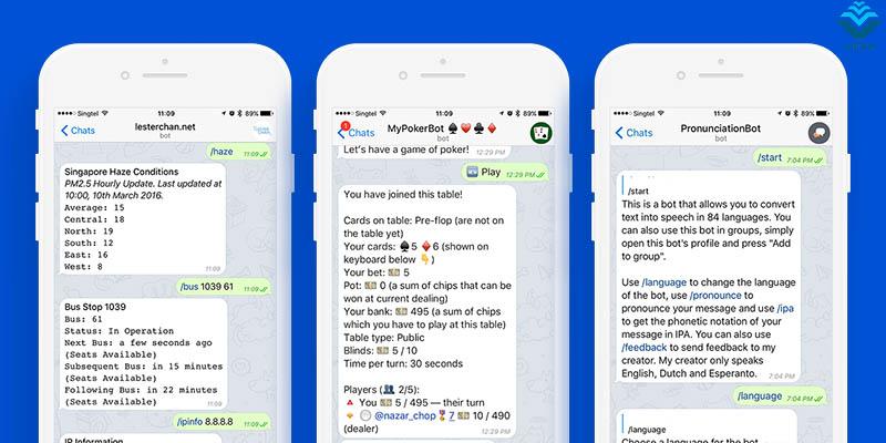 Tính năng chatbot Telegram