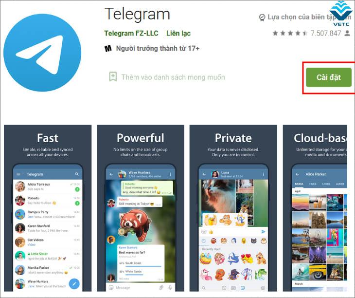Tải Telegram trên android
