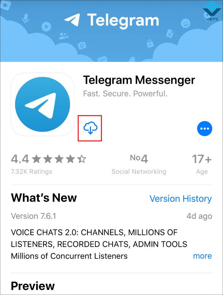 Tải Telegram trên Iphone